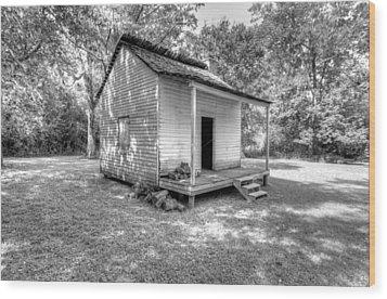 Oakley Plantation Slaves Quarters Wood Print by Bourbon  Street
