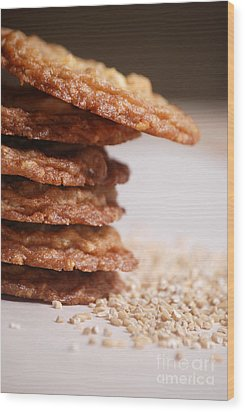 Oatmeal Cookies Wood Print by HD Connelly