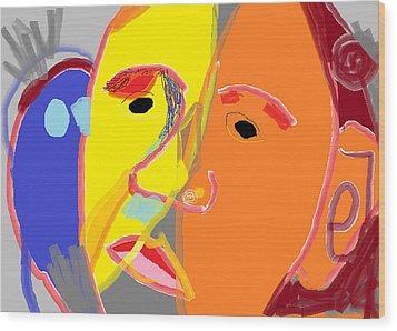 Obama 2 Wood Print by Anita Dale Livaditis