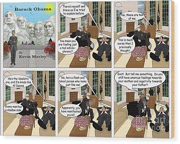 Obama N Freud I Wood Print by Kevin  Marley
