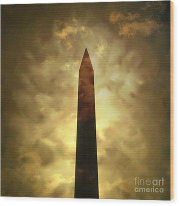 Obelisk. Illustration Wood Print by Bernard Jaubert