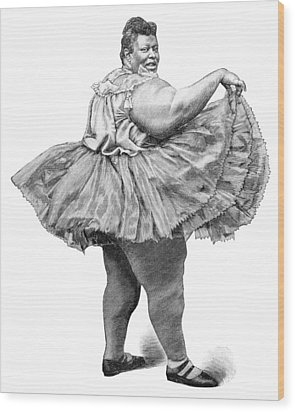 Obese Woman, 19th Century Wood Print by