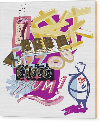 Obesity Wood Print by Paul Brown