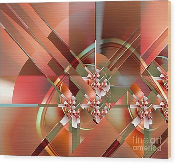 Objet Dart Three Wood Print by Michelle H