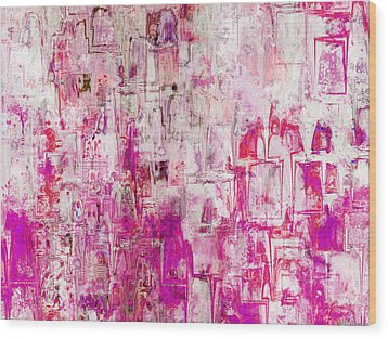 Oblong Abstract I Wood Print by Debbie Portwood
