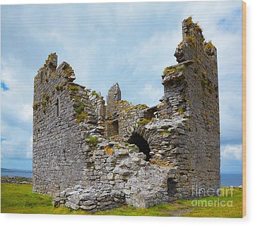 O'brien Castle Wood Print by Gabriela Insuratelu