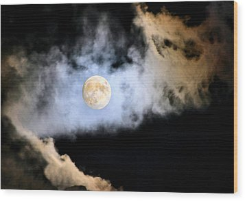 Obscured By Clouds Wood Print by Kristin Elmquist