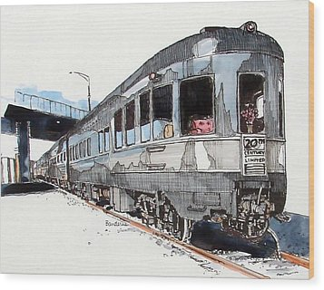 Wood Print featuring the painting Observation Car by Terry Banderas