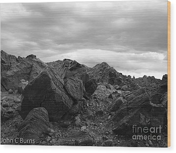Wood Print featuring the photograph Obsidian Field by John Burns