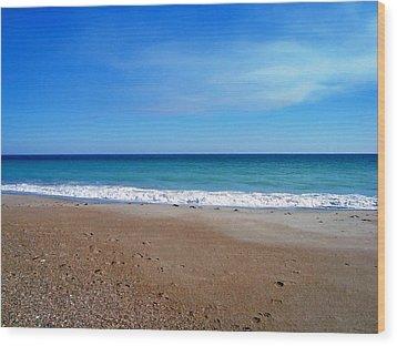Ocean Blue Wood Print by Joan Meyland