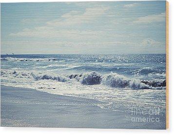 Ocean Blue Wood Print