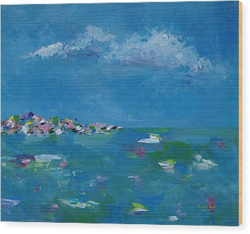 Wood Print featuring the painting Ocean Delight by Judith Rhue