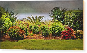 Wood Print featuring the digital art Ocean Garden by Mary Timman