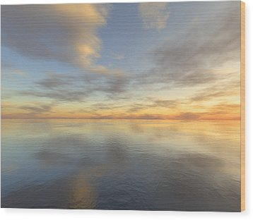 Ocean Wood Print by Mark Greenberg