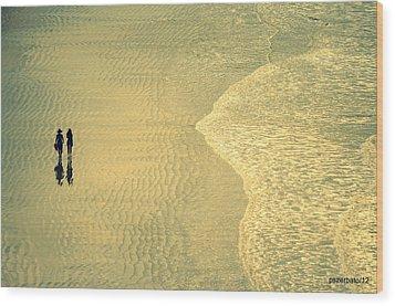 Ocean Of Words Wood Print by Paulo Zerbato