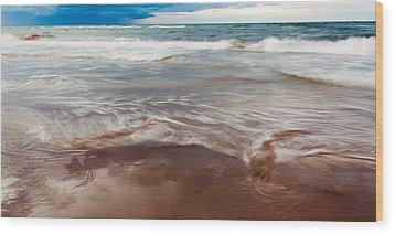 Ocean Panorama Wood Print by Matt Dobson
