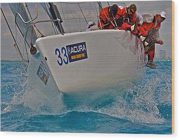 Ocean Racing Southern Florida Wood Print by Steven Lapkin