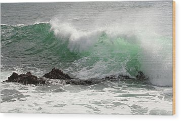 Wood Print featuring the photograph Ocean Spray by Michael Rock