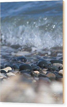 Ocean Stones Wood Print by Stelios Kleanthous