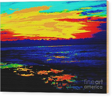 Wood Print featuring the photograph Ocean Sunset by Jasna Gopic