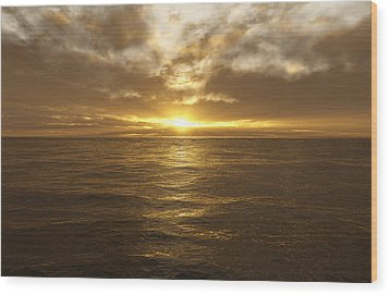 Ocean Sunset Wood Print by Mark Greenberg