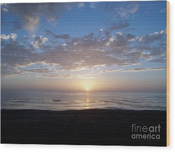 Ocean Sunset  Wood Print by The Kepharts