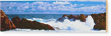Ocean Surf Wood Print by Phill Petrovic