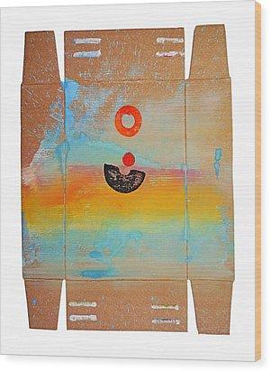 Ocean Swell Wood Print by Charles Stuart