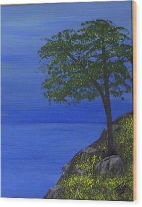 Ocean Tree Wood Print