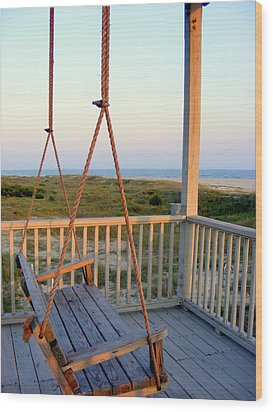 Wood Print featuring the photograph Ocean View At Oak Island Nc by Kelly Nowak