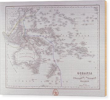 Oceania (australia, Polynesia, And Malaysia) Wood Print by Fototeca Storica Nazionale