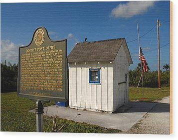 Ochopee Post Office Wood Print by David Lee Thompson