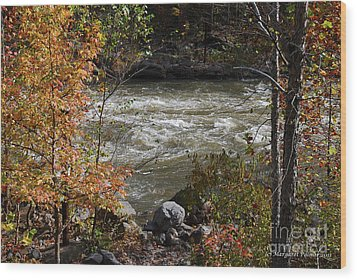 Wood Print featuring the photograph Ocoee River Rapids by Margaret Palmer