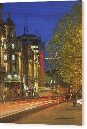 Oconnell Street Bridge, Dublin, Co Wood Print by The Irish Image Collection