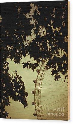October Mist Wood Print by Jan Bickerton