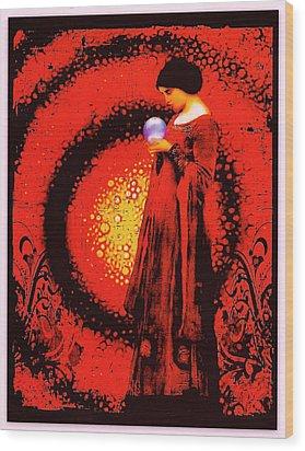 October Moon Wood Print by Janiece Senn