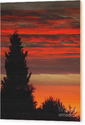 October Sky 4 Wood Print by Michael Canning