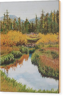 October Splendor Wood Print