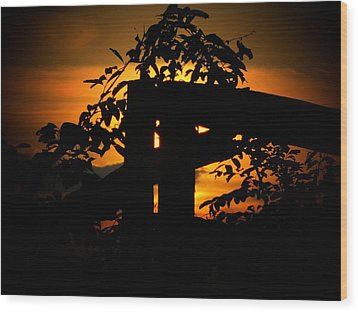 October Sunset Wood Print by Michael L Kimble