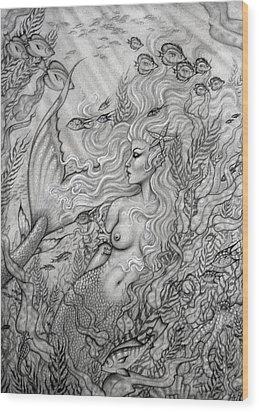 Octopus's Garden Wood Print by Leon Atkinson
