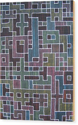 Ode To Trapped Boundary Wood Print by Pam Tapp