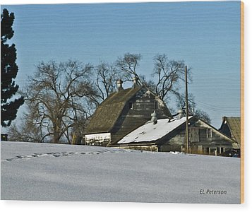 Wood Print featuring the photograph Off To Do The Chores by Edward Peterson
