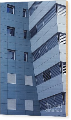 Office Building Wood Print by Carlos Caetano