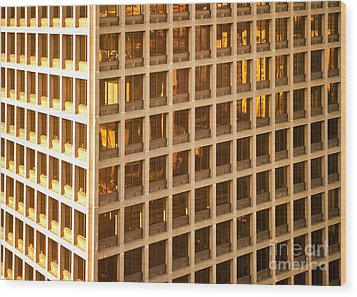 Office Building Wood Print by David Buffington