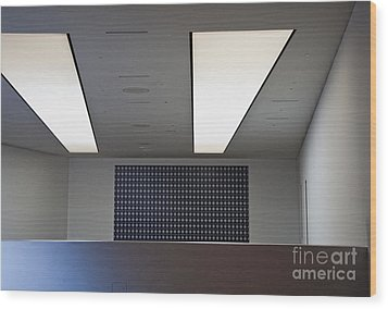 Office Ceiling Wood Print by David Buffington