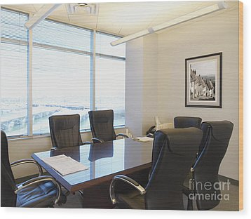 Office Meeting Room Wood Print by Dave & Les Jacobs