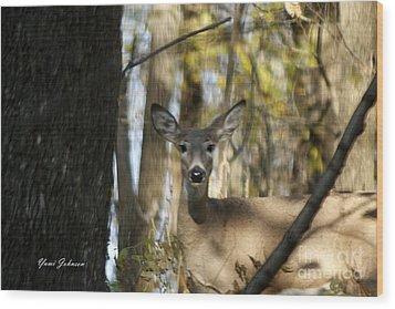 Oh Deer Wood Print by Yumi Johnson