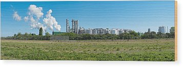 Wood Print featuring the photograph Oil Refinery by Hans Engbers