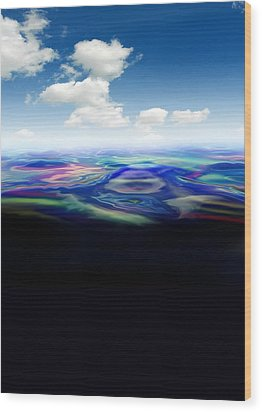 Oil Spill, Artwork Wood Print by Victor Habbick Visions