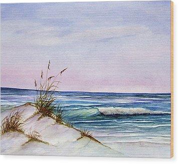 Okaloosa Beach Wood Print by Rosie Brown